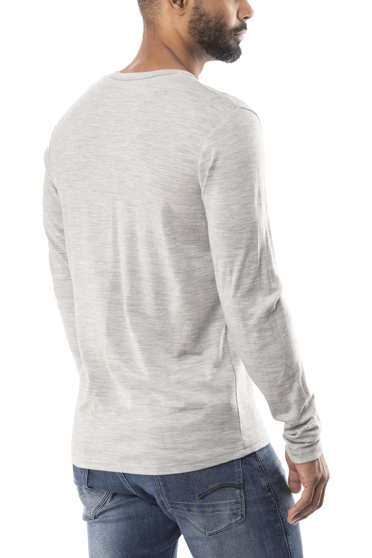 5a7ef25d43795 Bergans Henley Wool Longsleeve Shirt Men grey at Addnature.co.uk